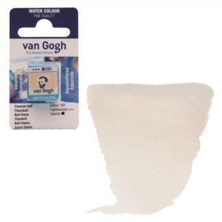Акварельная краска Van Gogh 291 Титановый буфф 2,5 мл кювета Royal Talens