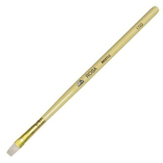 Кисточка «Rosa» 1722 Щетина плоская №14 длинная ручка белый ворс