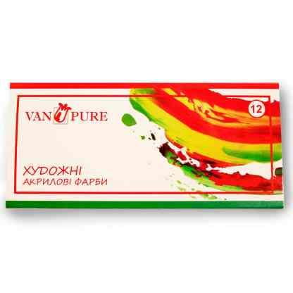Набор акриловых красок 12 цветов по 12 мл Van Pure