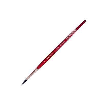 Кисточка «Автор» 5072 Белка имитация круглая №06 короткая ручка красная АртАвангард