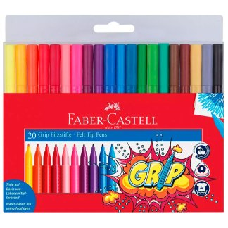 Набор фломастеров Grip 20 цветов Faber-Castell 155320