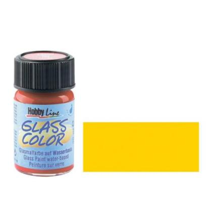 Краска для стекла Glass Color 42404 Желтая 20 мл Hobby Line C.KREUL