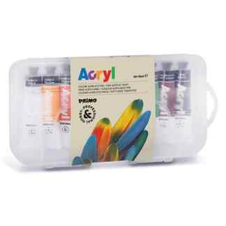 Набор акриловых красок 10 цветов по 18 мл в пластиковом боксе Primo Италия