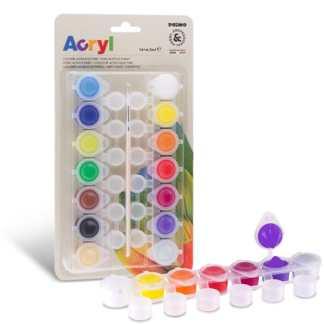 Набор акриловых красок на завесе 14 цветов по 4,5 мл Primo Италия