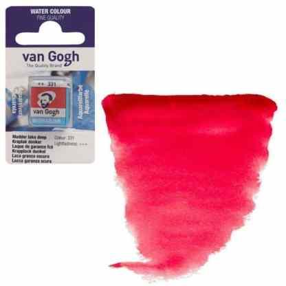 Акварельная краска Van Gogh 331 Краплак красный темный 2,5 мл кювета Royal Talens