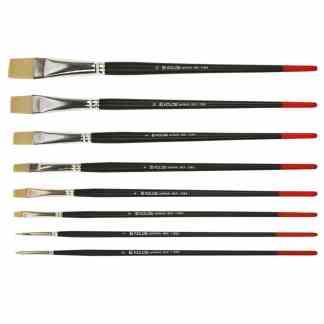 Кисточка «Kolos» Milk 1108B Синтетика плоская №0 длинная ручка белый ворс