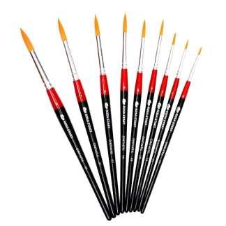 Кисточка «Rosa Start» 111 Синтетика круглая №03 короткая ручка рыжий ворс