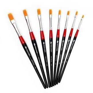 Кисточка «Rosa Start» 101 Синтетика плоская №04 короткая ручка рыжий ворс