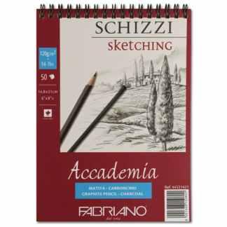 44121421 Альбом для графики на спирали Accademia А5 (14,8х21 см) 120 г/м.кв. 50 листов Fabriano Италия
