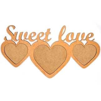 Заготовка деревянная Рамка «Sweet love» 370х200х6 мм МДФ Rosa Talent