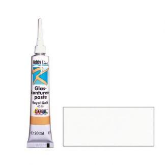 Контур-рельеф для стекла самовыравнивающийся Hobby Line 4554 белый 20 мл C.KREUL