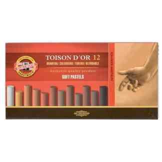 Мел-пастель (теплые оттенки) Toison D`or 12 цветов Koh-i-Noor