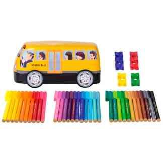 Подарочный набор фломастеров «Автобус» 33 цвета Faber-Castell 155532
