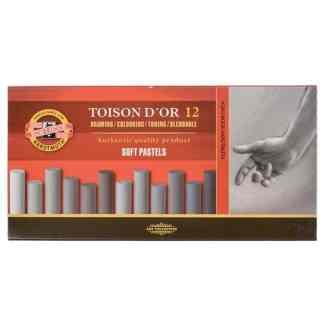 Мел-пастель (холодные оттенки) Toison D`or 12 цветов Koh-i-Noor