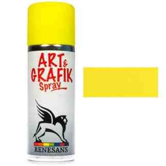 Краска акриловая в аэрозоле 03 Желтая 200мл Renesans