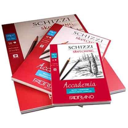 41121421 Альбом для графики склейка Accademia А5 (14,8х21 см) 120 г/м.кв. 50 листов Fabriano Италия