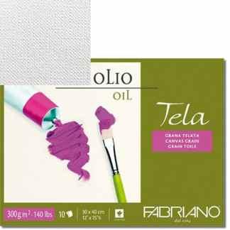 68002432 Альбом для масляной живописи Tela 24х32 см 300 г/м.кв. 10 листов Fabriano Италия