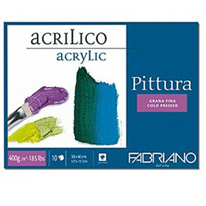 40002535 Альбом для акриловой живописи Pittura 25х35 см 400 г/м.кв. 10 листов Fabriano Италия