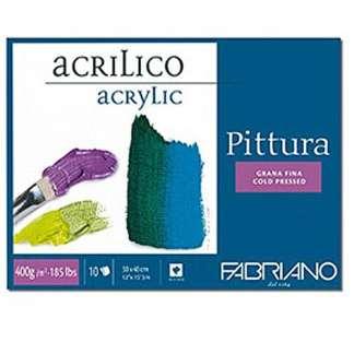 40003040 Альбом для акриловой живописи Pittura 30х40 см 400 г/м.кв. 10 листов Fabriano Италия