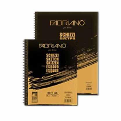 51482166 Блокнот для эскизов Schizzi А5 (14,8х21 см) 90 г/м.кв. 60 листов на спирали по длинной стороне Fabriano Италия