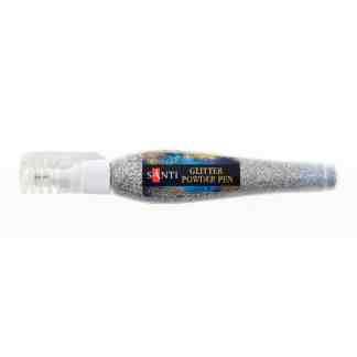 Ручка с рассыпчытым глиттером, серебро 10гр Santi 411739