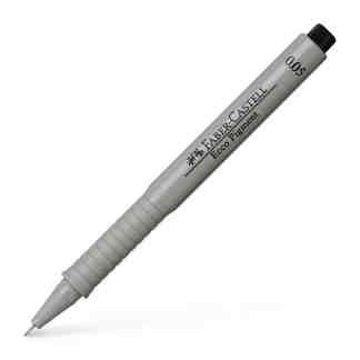 Линер черный Ecco pigment 0,05 мм Faber-Castell