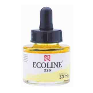 Акварельная краска жидкая Ecoline 226 Желтый пастельный 30 мл с пипеткой