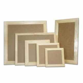 Деревянная рамка для декора с ДВП 10х10 см (планка 40х17)