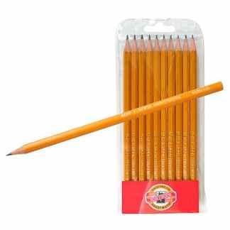Набор чернографитных карандашей 2Н-3В 10 штук в блистере 1570 Koh-i-Noor