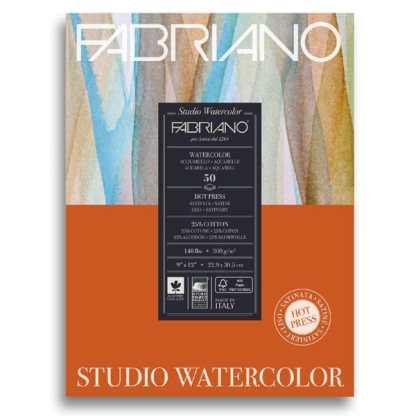 19503004 Альбом для акварели Studio 22,9х30,5 см 300 г/м.кв. 50 листов Fabriano Италия