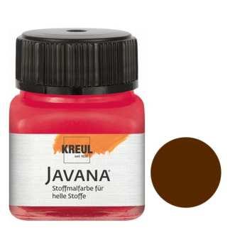 Краска по светлым тканям нерастекающаяся KR-90918 Коричневый темный 20 мл Sunny Javana C.KREUL