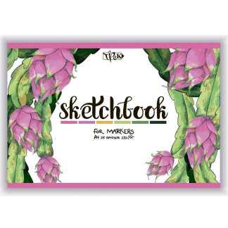 Скетчбук для маркеров (питайя) А4 (21х29,7 см) 250 г/м.кв. 25 листов «Трек»