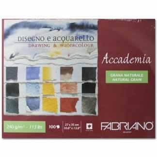 42402735 Альбом для влажных техник склейка Accademia 27х35 см 240 г/м.кв. 100 листов Fabriano Италия
