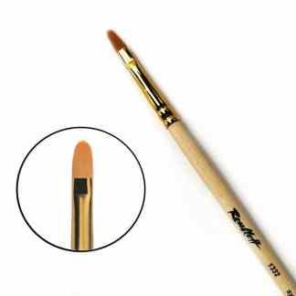 Кисточка «Roubloff» 1332 Синтетика овальная №08 длинная ручка рыжий ворс