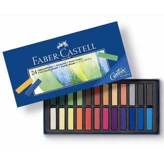 Набор сухой мягкой пастели Goldfaber 24 цвета 35 мм Faber-Castell