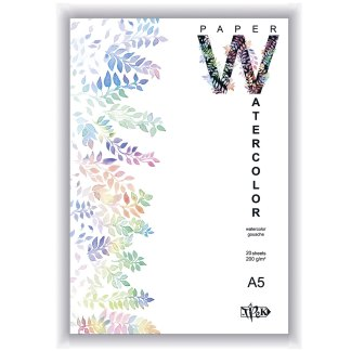 Планшет для акварели А5 (14,8х21 см) бумага рисовальная Словакия 200 г/м.кв. 20 листов «Трек» Украина