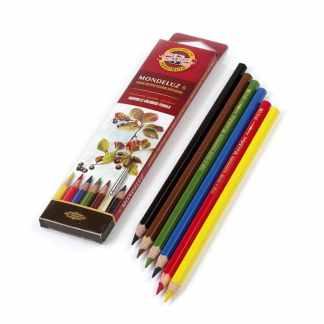 Набор акварельных карандашей Mondeluz 6 цветов Koh-i-Noor