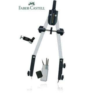 Циркуль металлический 39 см с адаптером Faber-Castell 174014