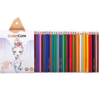 3130-36СВ Карандаши цветные 36 цв. круглые  «ColorCore» Marco