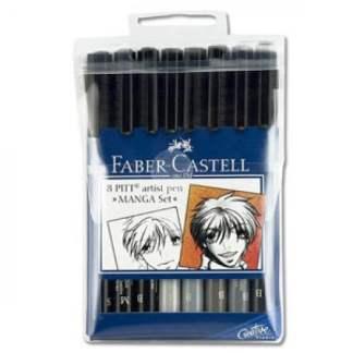 Набор фломастеров «Основные цвета Manga» 8 штук Faber-Castell 167107