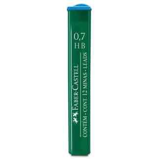 Грифель 0,7 мм HB 12 штук в пенале Faber-Castell 9127