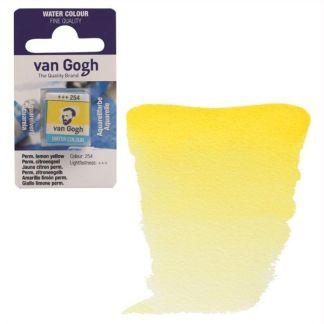 Акварельная краска Van Gogh 254 Перм. лимонный светлый 2,5 мл кювета Royal Talens