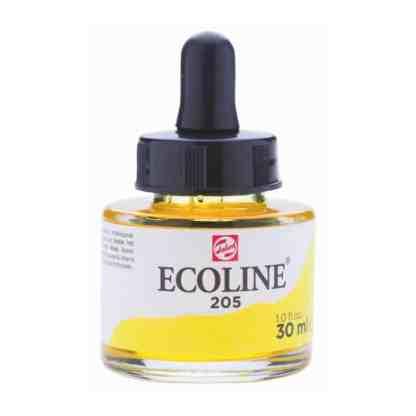 Акварельная краска жидкая Ecoline 205 Желтый лимонный 30 мл с пипеткой