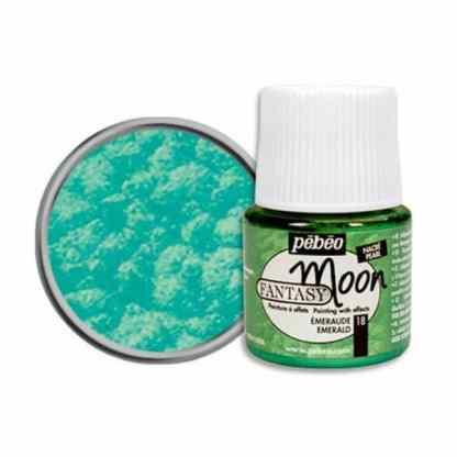 Краска лаковая Fantasy Moon 018 Изумрудный 45 мл Pebeo