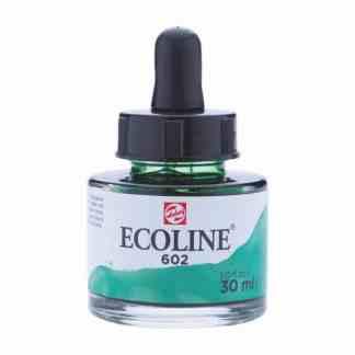 Акварельная краска жидкая Ecoline 602 Зеленая темная 30 мл с пипеткой