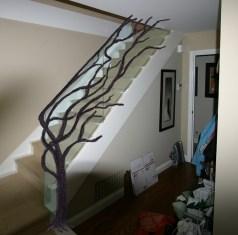 Tree Branch Rail w/ Glass - O. Gabbert