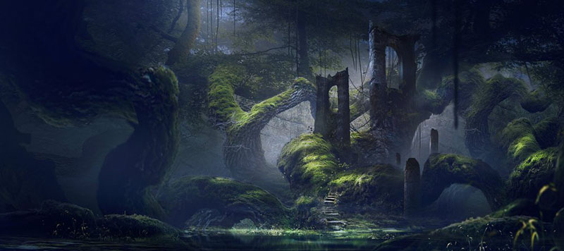 Fall Woodland Creatures Wallpaper Фантастические картины Juan Pablo Roldan
