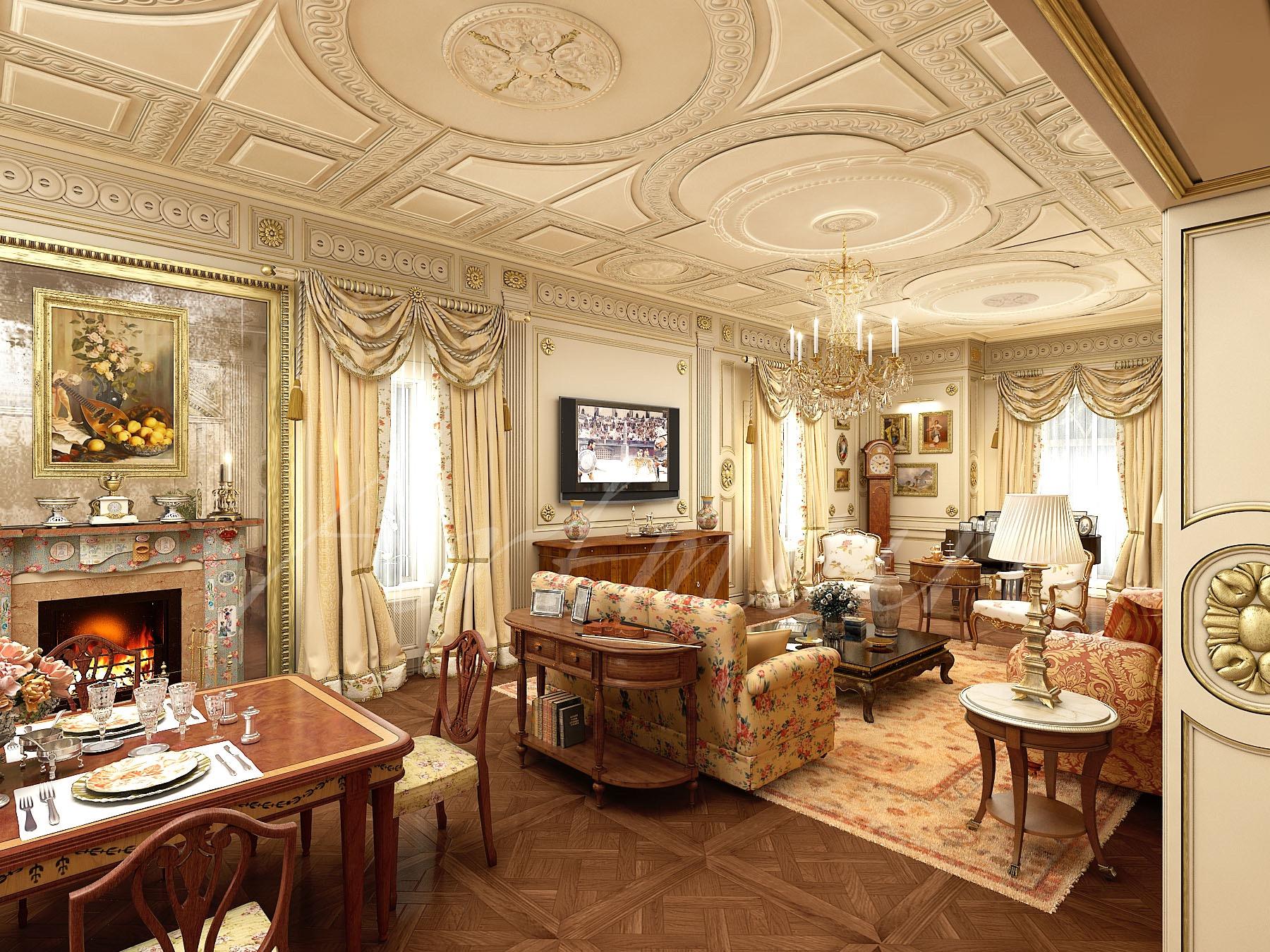 Ciri Khas Desain Rumah Interior Klasik  ARTMOIRE Interior