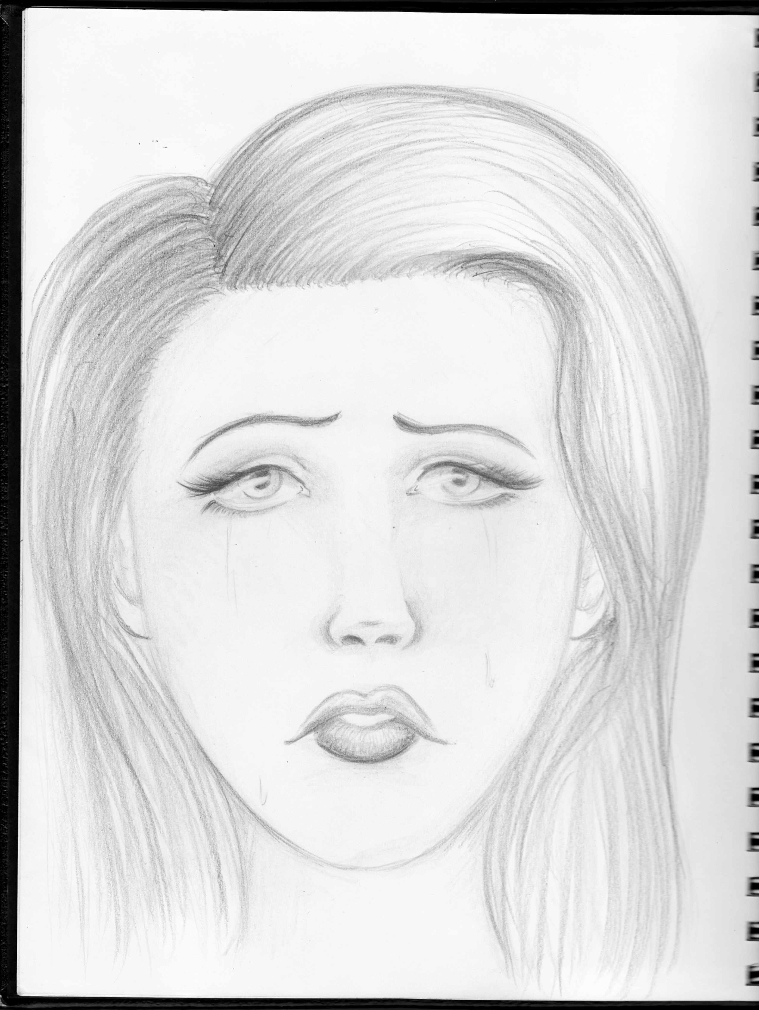 How To Draw A Sad Face : Artist