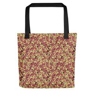 Yellow Hepatica Nobilis Pattern Tote Bag